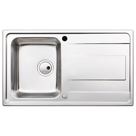 Abode Ixis Compact Kitchen Sink - Stainless Steel