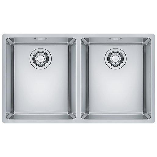 Franke Maris 2 Bowl Kitchen Sink - Stainless