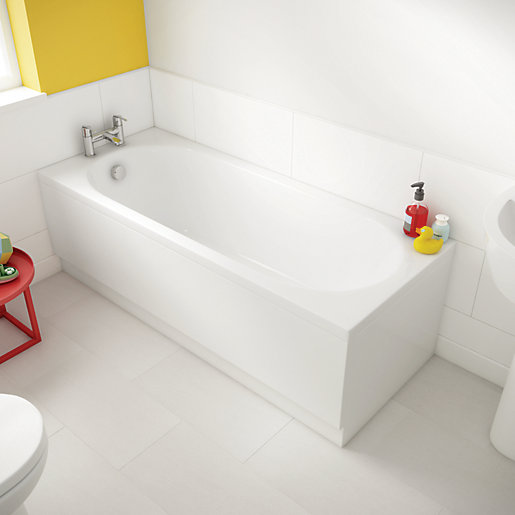 Wickes Forenza Straight Bath - 1600 x 700mm