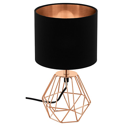 Eglo Carlton 2 Table Lamp - Black &
