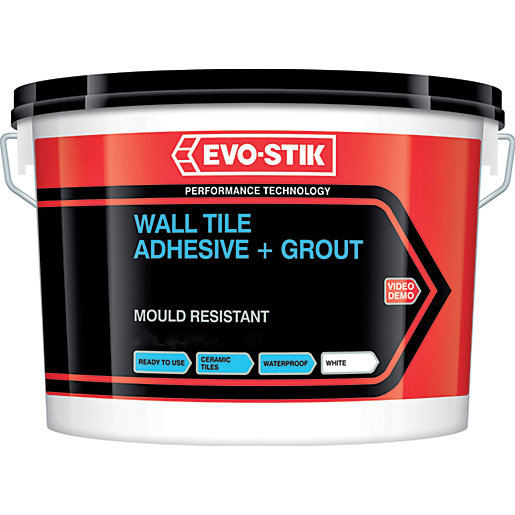 Evo-stik 416536 Waterproof Tile & Grout 5L