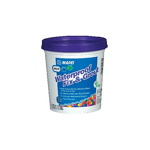 Mapei Waterproof Fix & Grout for Walls White