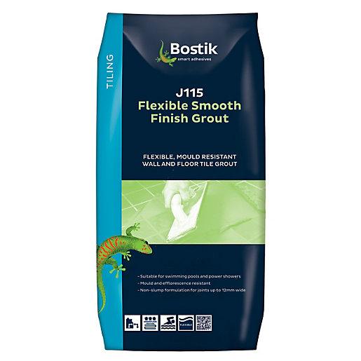 Bostik Smooth Flexible Tile Grout J115 10kg White