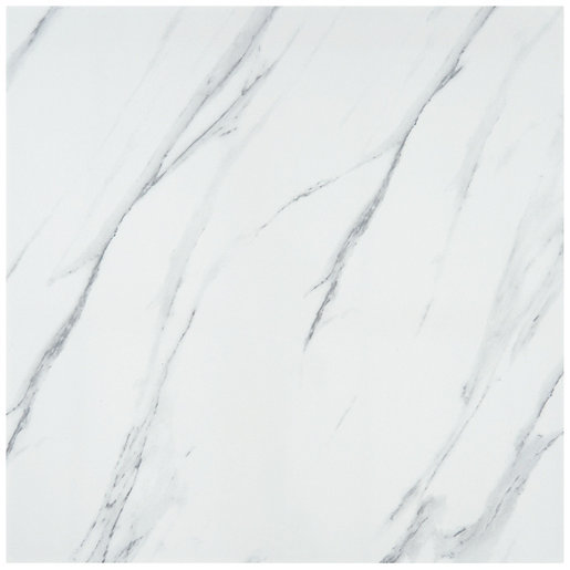 Calacatta Gloss White Glazed Porcelain Tile 605 x