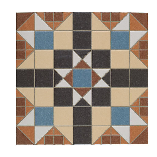 Wickes Dorset Marron Patterned Ceramic Tile 316 x