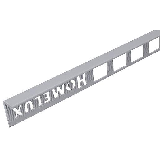 Homelux 10mm PVC Straight Edge Grey Tile Trim