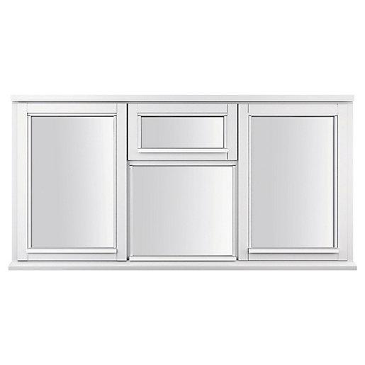 White Double Glazed Timber Casement Window - 4-Lite