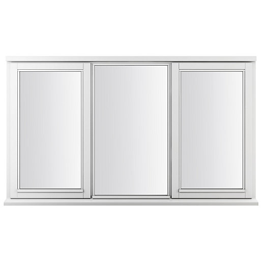 White Double Glazed Timber Framed Window 895 x