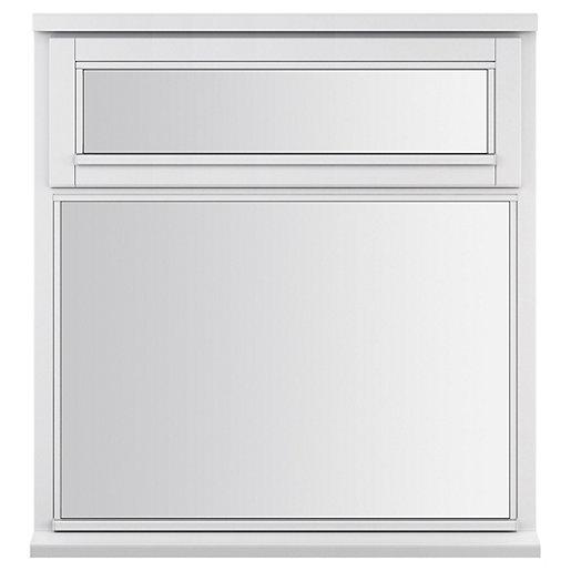 White Double Glazed Timber Window 895 X 910