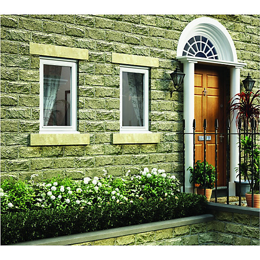 Wickes White Timber Casement Window - LH Side