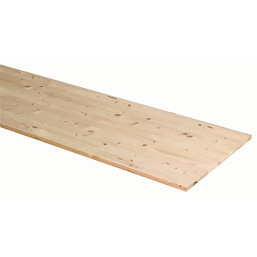 Wickes General Purpose Spruce Timberboard - 28mm x