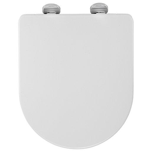 Croydex Eyre D Shaped Flexi Fix Toilet Seat