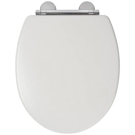 Croydex Flexi-Fix™ Lugano Toilet Seat - White