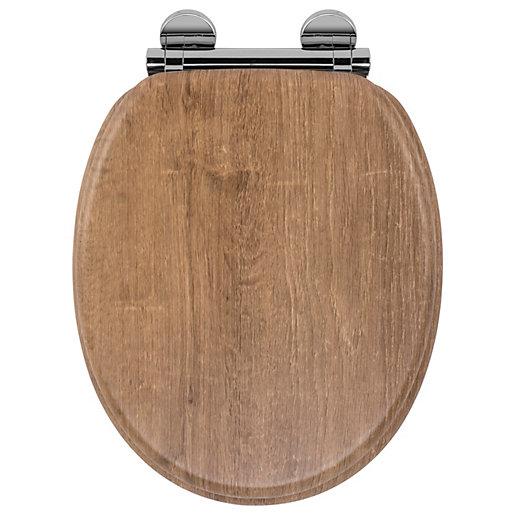 Croydex Flexi-Fix™ Ontario Toilet Seat - Oak