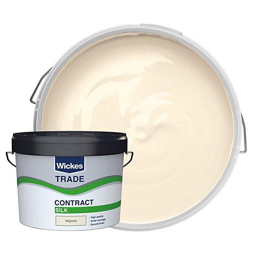 Wickes Trade Contract Silk Emulsion Magnolia 10L