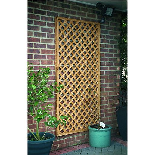 Forest Garden Fence Top Trellis Diamond Lattice -