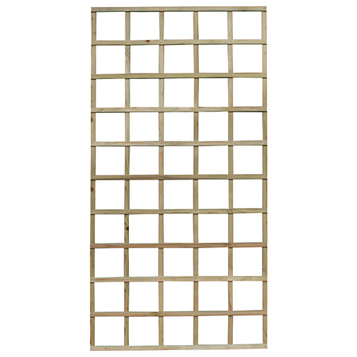 Forest Garden Smooth Planed Trellis Panel 90cm x