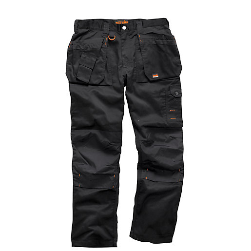 Scruffs Worker Plus Trouser Black - Long Leg