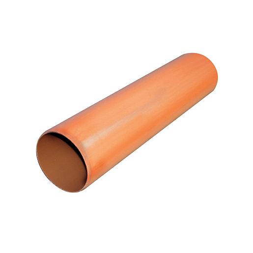 FloPlast 110mm Underground Drainage Pipe 3m - Terracota