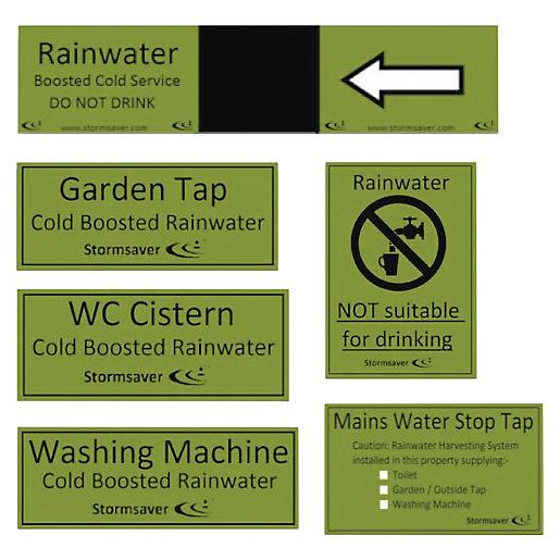 FloPlast Rainwater Harvesting Identification Label Kit