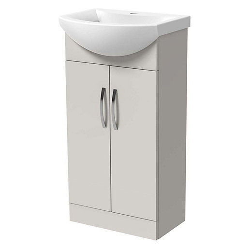 Wickes Gloss Grey Vanity Unit & Basin -