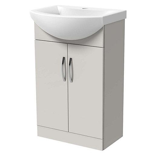 Wickes Grey Gloss Vanity Unit & Basin -
