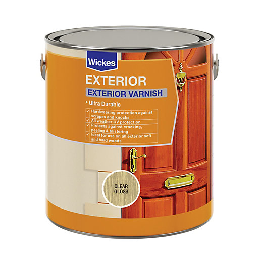 Wickes Exterior Varnish - Clear Gloss 2.5L