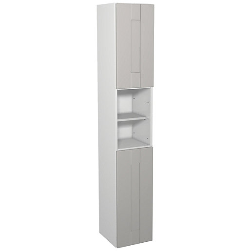 Wickes Vermont Grey On White Floorstanding Tall Tower