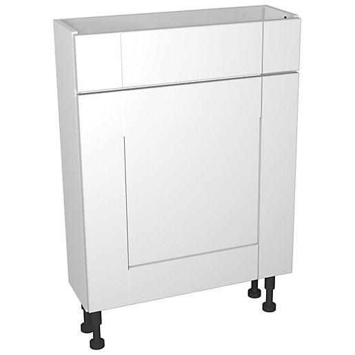 Wickes Vermont White Compact Floorstanding Toilet Unit -