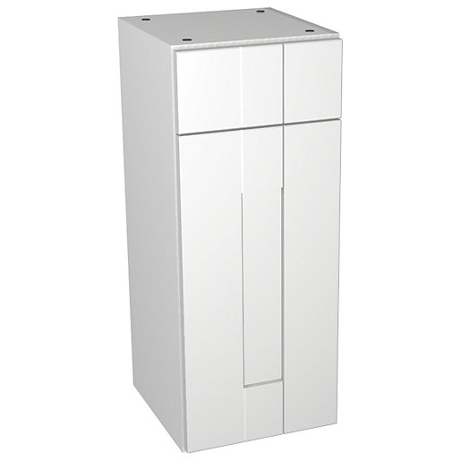 Wickes Vermont White Drawerline Floorstanding Storage Unit -