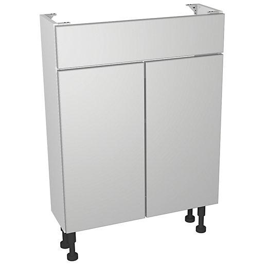Wickes Vienna Grey Gloss Compact Floorstanding Vanity Unit