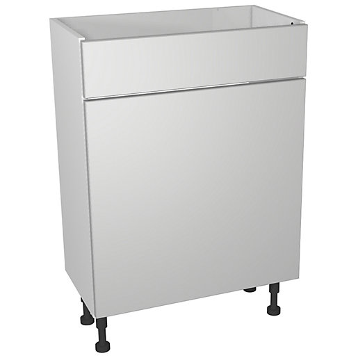 Wickes Vienna Grey Gloss Floorstanding Toilet Unit -