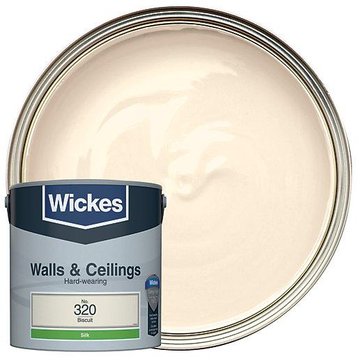 Wickes Biscuit - No.320 Vinyl Silk Emulsion Paint