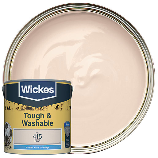 Wickes Fawn - No.415 Tough & Washable Matt