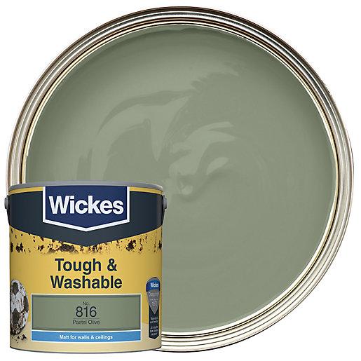Wickes Pastel Olive - No. 816 Tough &