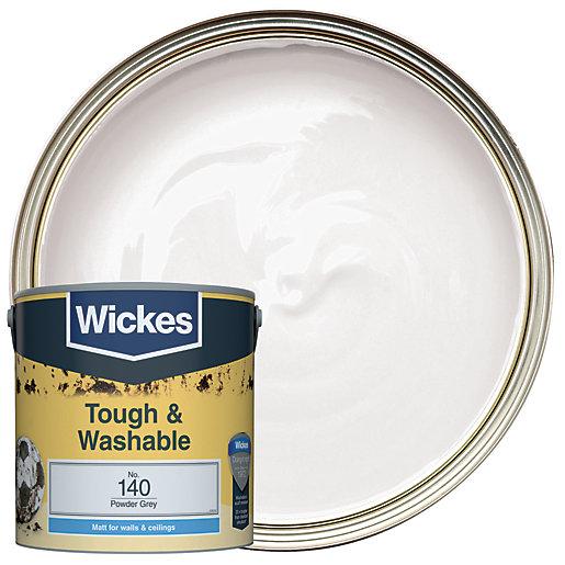 Wickes Powder Grey - No.140 Tough & Washable
