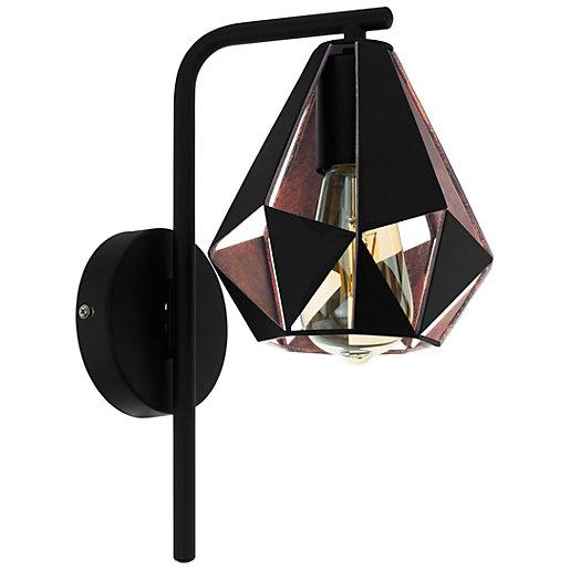 Eglo Carlton 4 Black & Copper Wall Light