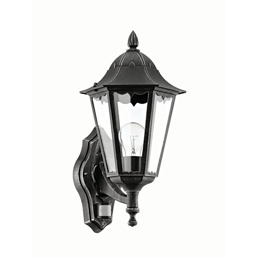 Eglo Navedo Black & Silver Outdoor Wall Light