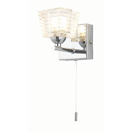 Spa Aquila Chrome Single Bathroom Wall Light -