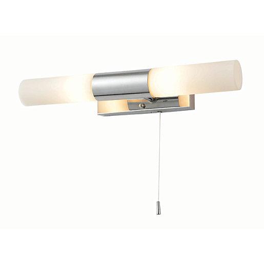 Spa Aries Chrome Double Bathroom Wall Light -
