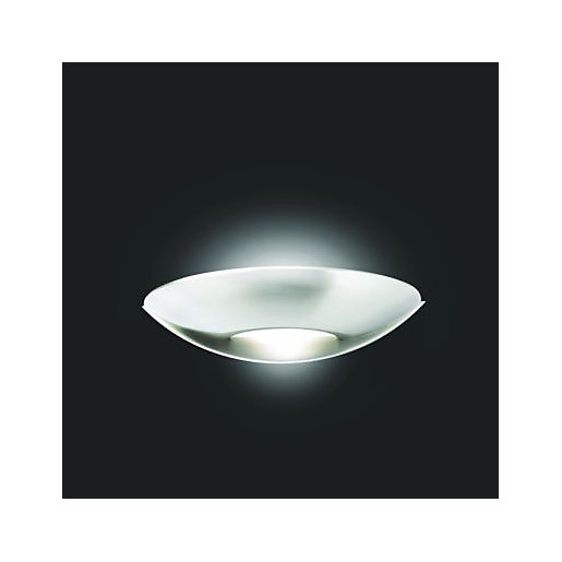 Wickes Marseille Brushed Chrome Wall Mounted Uplighter -