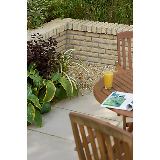 Marshalls Textured Pitch Faced Walling - Buff 300