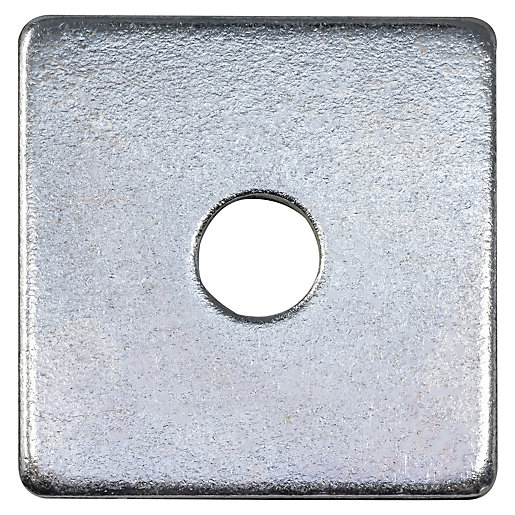 Wickes Flat Square Washers M10 Pack Of 10