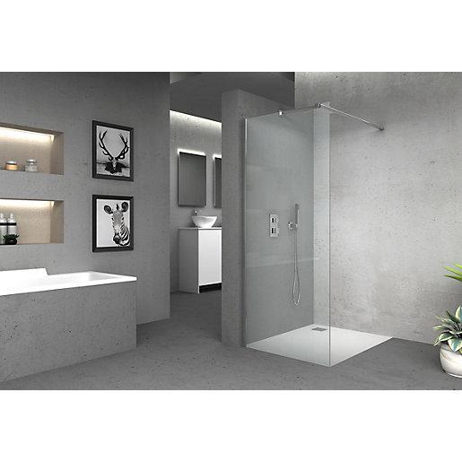 Vision 6mm Frameless Wet Room Shower Glass Panel