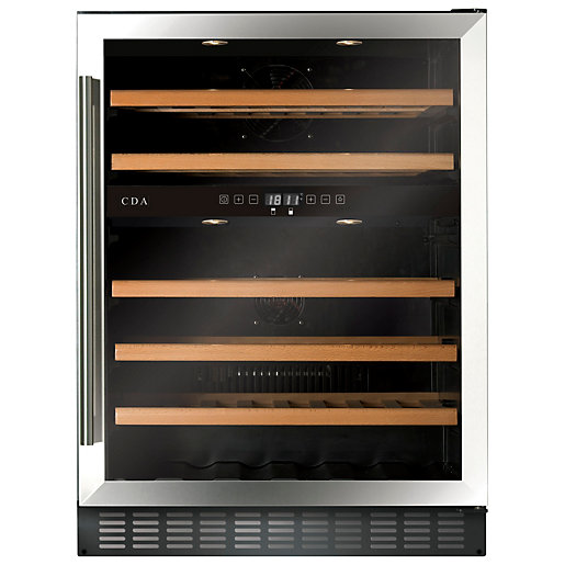 CDA 600mm Stainless Steel Wine Cooler FWC604SS