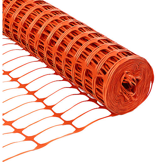 Wickes Barrier Fencing Orange - 1m x 50m