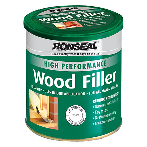 Ronseal High Performance Wood Filler - White 1kg