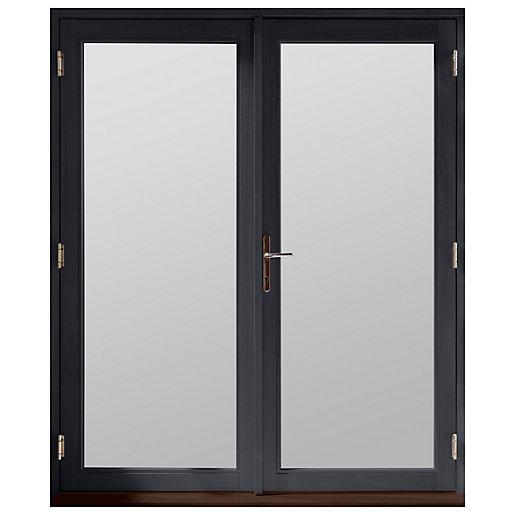 Jeld-Wen Bedgebury Hardwood French Doors Grey Finish