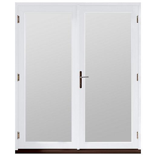 Jeld-Wen Bedgebury Hardwood French Doors White Finish