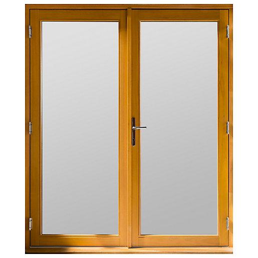 Jeld-Wen Kinsley Hardwood French Doors Golden Oak Finish